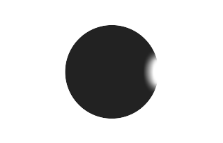 Total solar eclipse of 05/13/1733