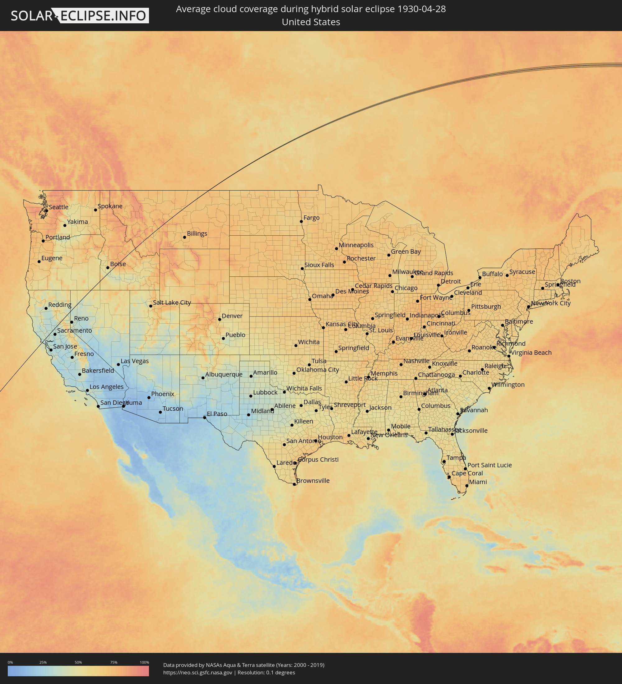 Average Cloud Cover Map Us Click On Map To View Gallery Slide - Us cloud cover map