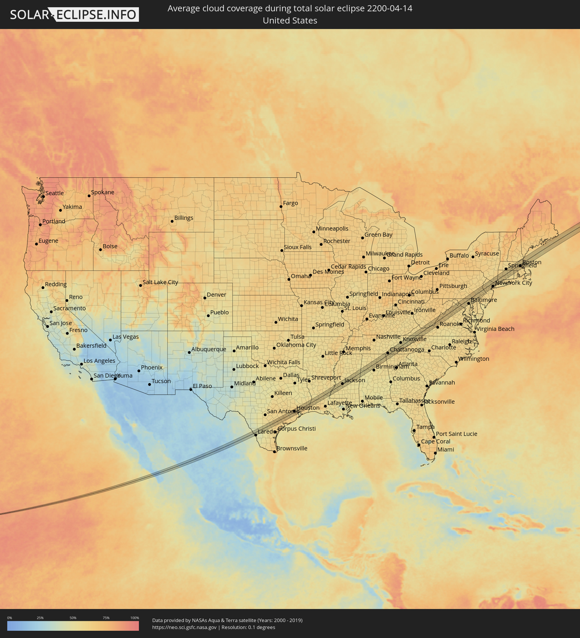 United States Yearly Annual And Monthly Mean Minimum Sea Level - Pressure map of us