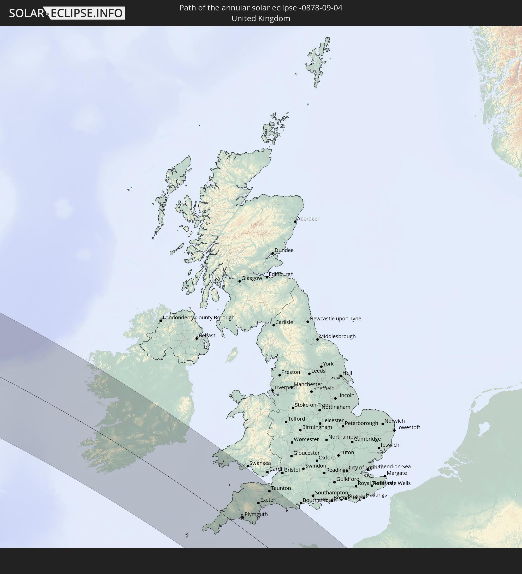 United Kingdom The annular solar eclipse of