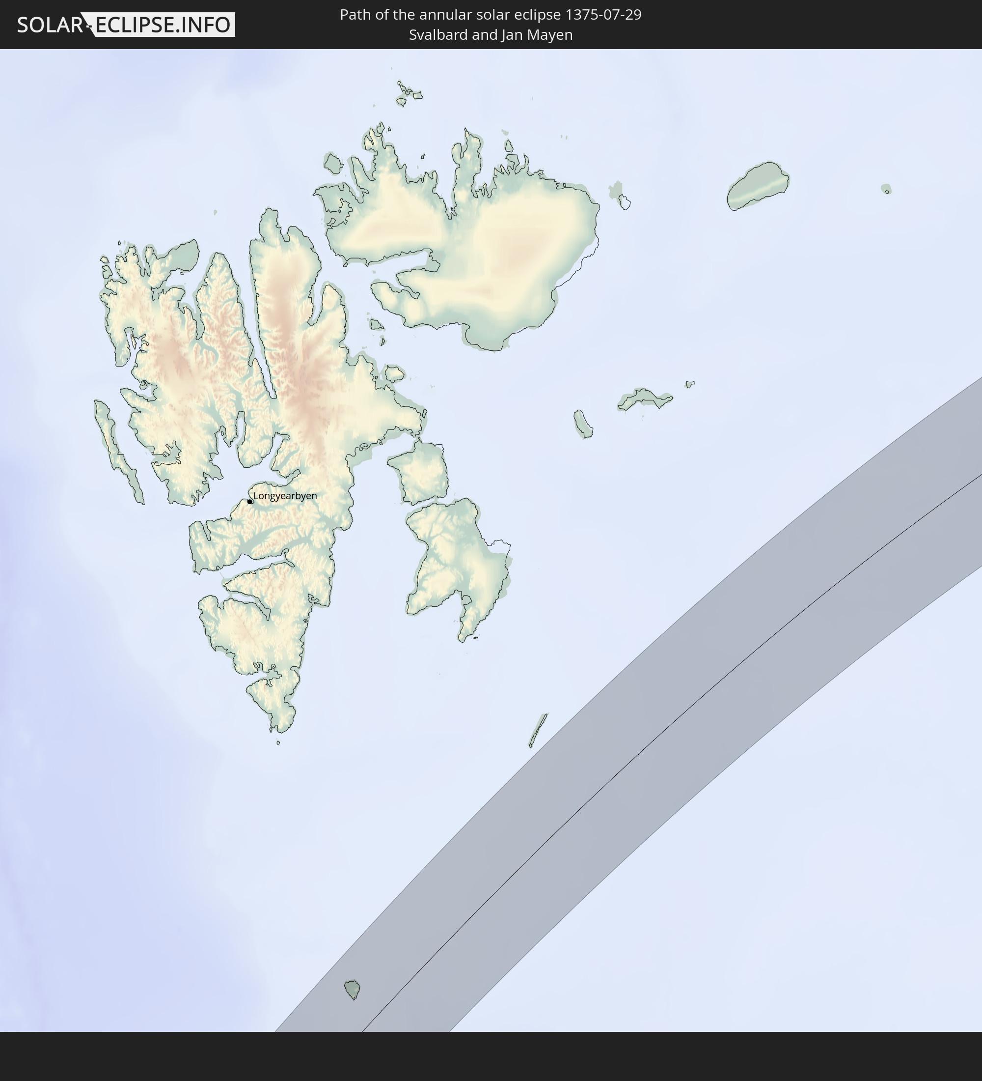 Annular solar eclipse of 07/29/1375
