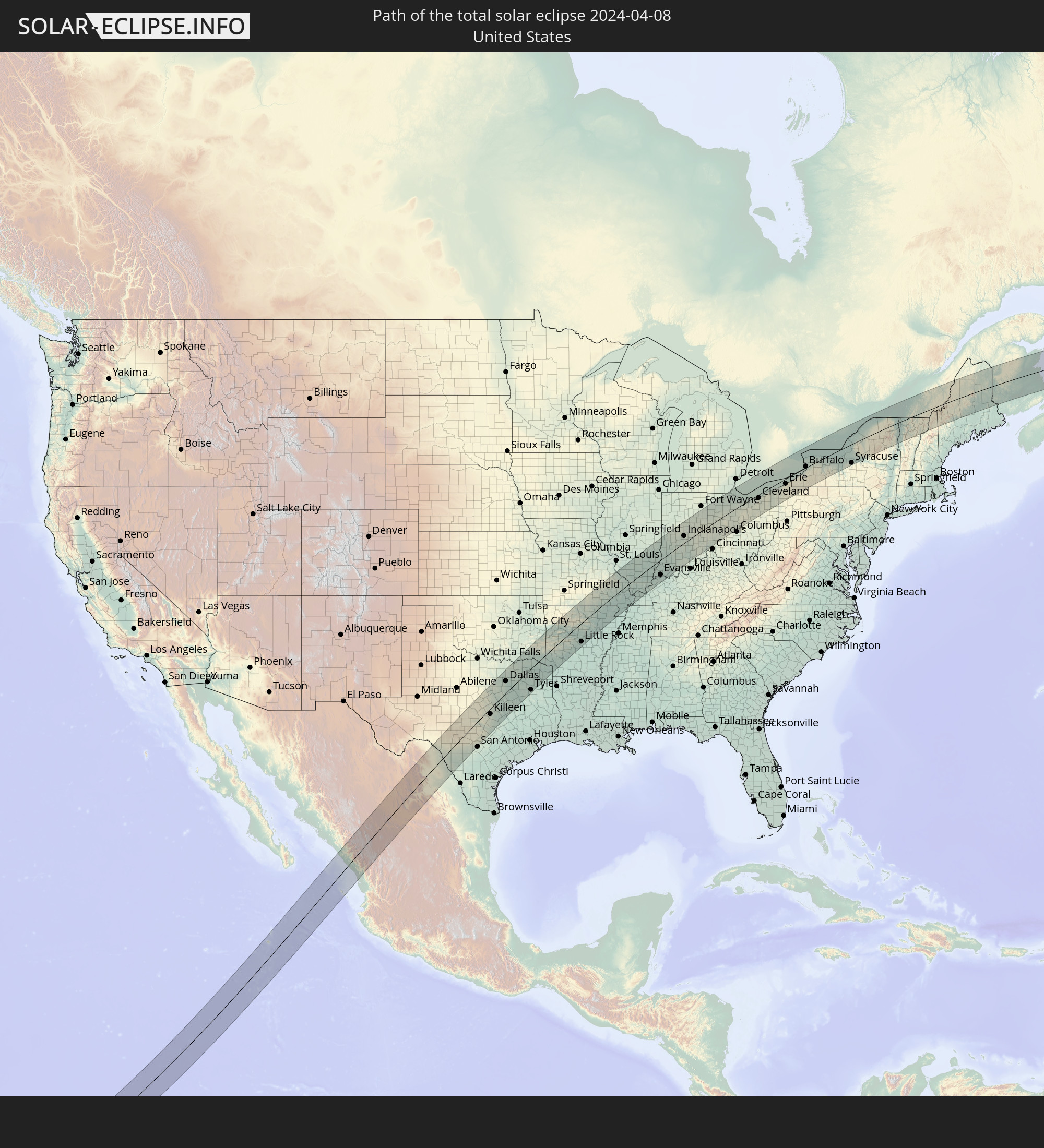 The Total Solar Eclipse Of 04 08 2024