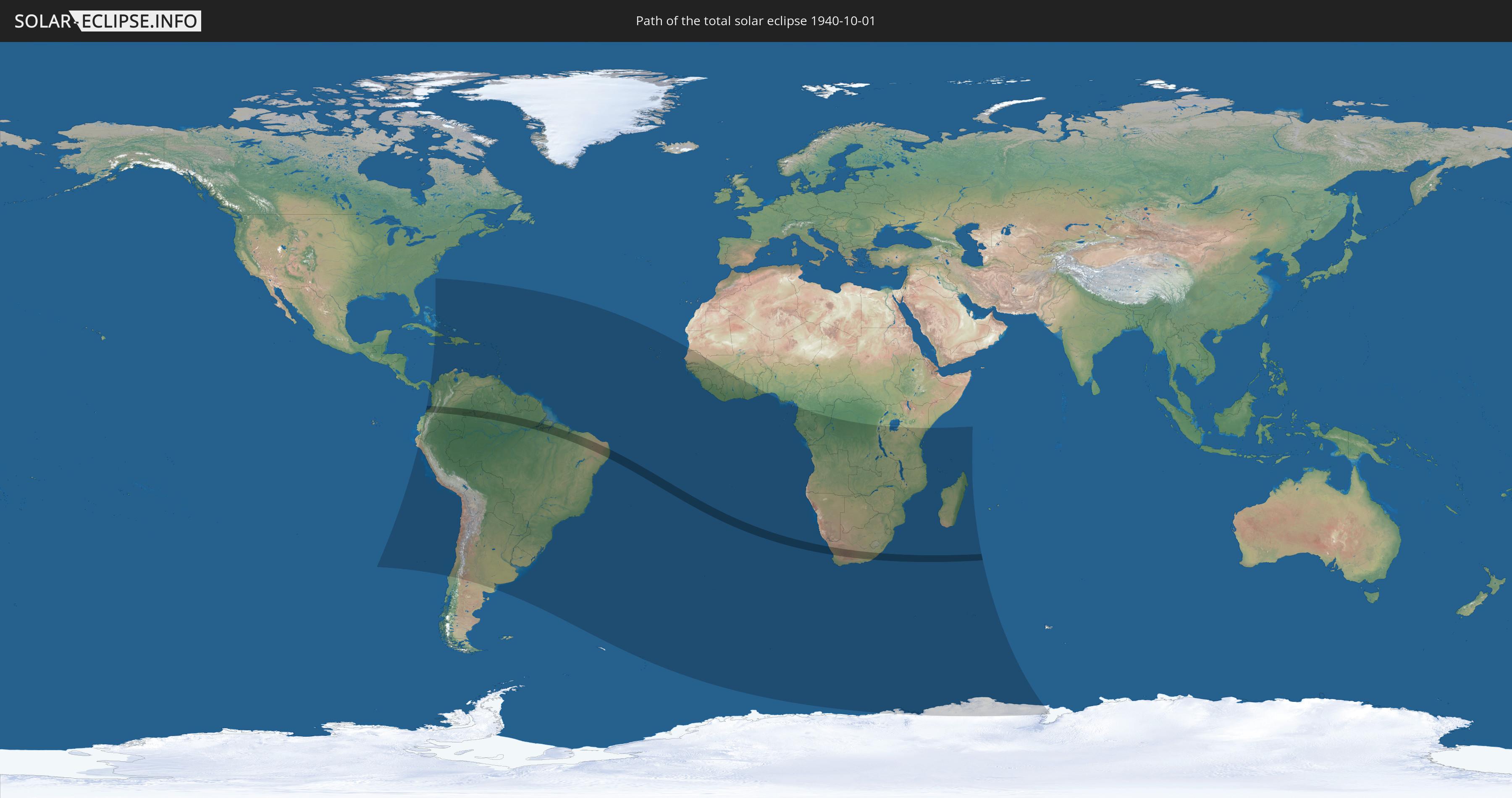Totale Sonnenfinsternis vom 01.10.1940